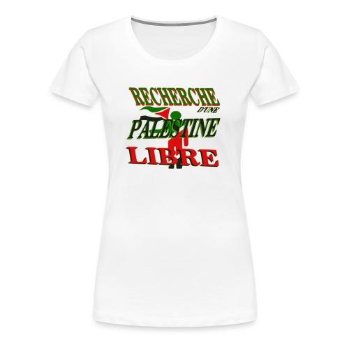 Recherche Palestine libre - T-shirt Premium Femme