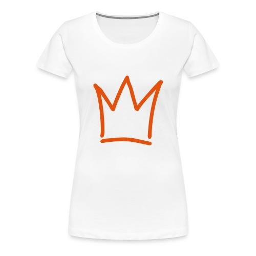 Koninginnedag Kroon3 - Vrouwen Premium T-shirt