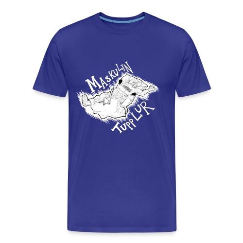 Manlig tupplur (HERR) - Premium-T-shirt herr