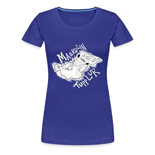 Manlig tupplur (DAM) - Premium-T-shirt dam