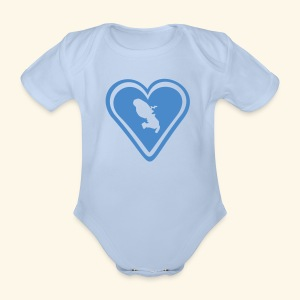 LOVE HEART Martinique body - Body bébé bio manches courtes