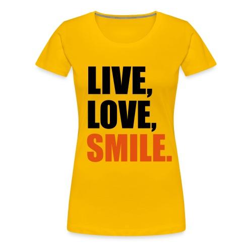 Live and love - Women's Premium T-Shirt