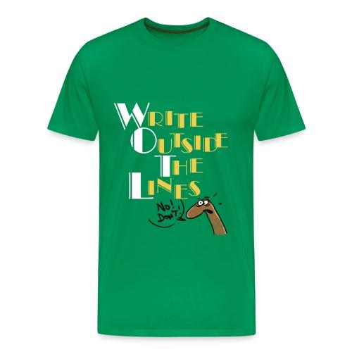 Write Outside The Lines - Men's Premium T-Shirt