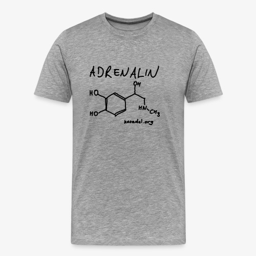 Adrenalin DD Schwarz auf Klassik T-Shirt - Männer Premium T-Shirt
