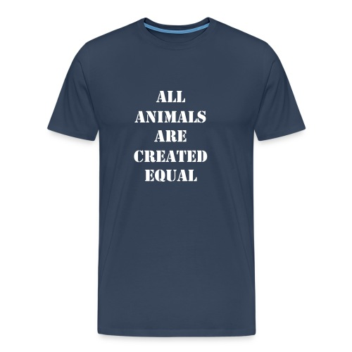 All animals are created equal - navy - Maglietta Premium da uomo