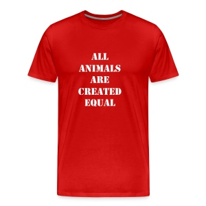 All animals are created equal - rossa - Maglietta Premium da uomo