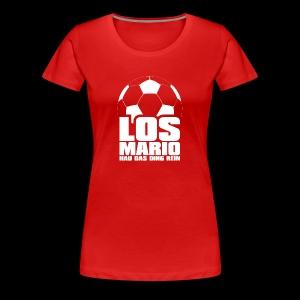 Fußball - Los Mario, hau das Ding rein (weiss) - Frauen Premium T-Shirt