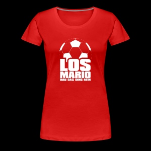 Fußball - Los Mario, hau das Ding rein (weiss) - Koszulka damska Premium