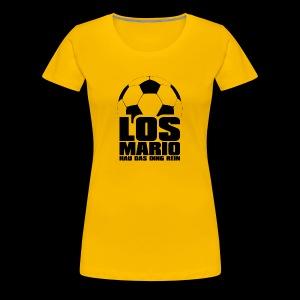 Fußball - Los Mario, hau das Ding rein (schwarz) - Koszulka damska Premium