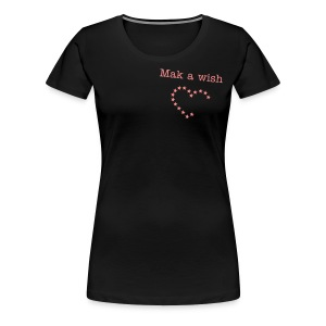 Make a wish - Heart - Frauen Premium T-Shirt