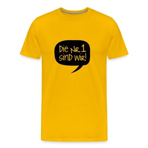 Dortmund Shirt: Die Nr. 1 sind wir - Männer Premium T-Shirt