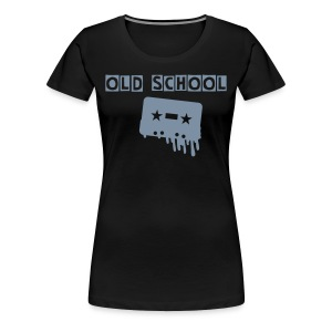 old school - Frauen Premium T-Shirt