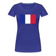 Tee shirts ~ T-shirt Premium Femme ~ Supportrice Française bleu blanc rouge