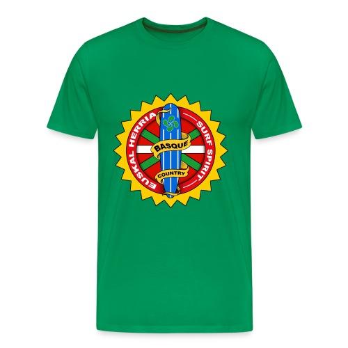 tee shirt basque surfing - Men's Premium T-Shirt