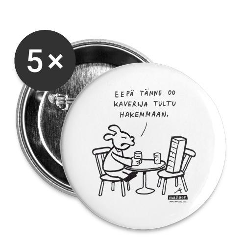 Malinen - Kaverinapit - Rintamerkit pienet 25 mm (5kpl pakkauksessa)