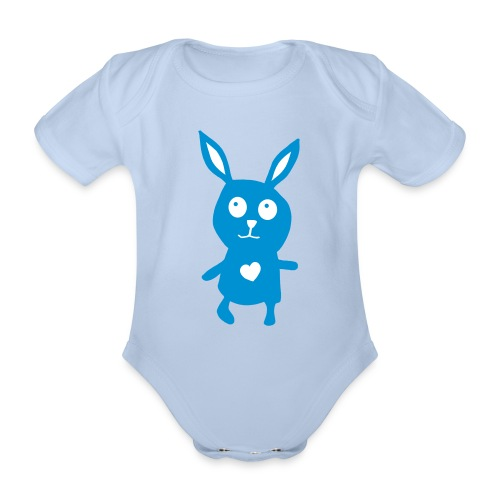 Häschen-Body - Baby Bio-Kurzarm-Body