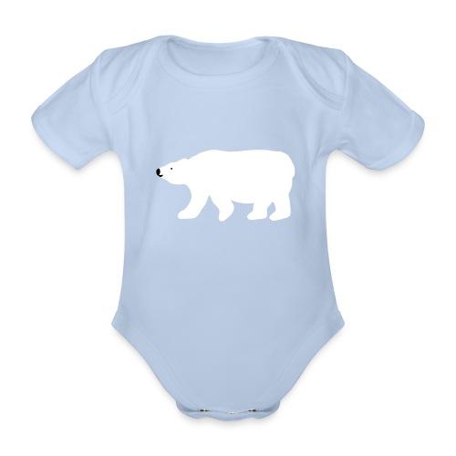 Eisbär-Body - Baby Bio-Kurzarm-Body
