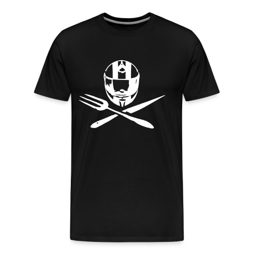 Motociclsiti da Tavola_Jolly Roger - la maglietta mezza manica TAGLIE FORTI - Maglietta Premium da uomo