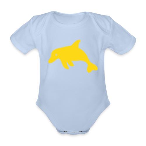 Delphin-Body - Baby Bio-Kurzarm-Body