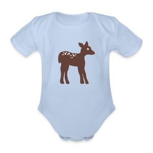 Rehkitz-Body - Baby Bio-Kurzarm-Body