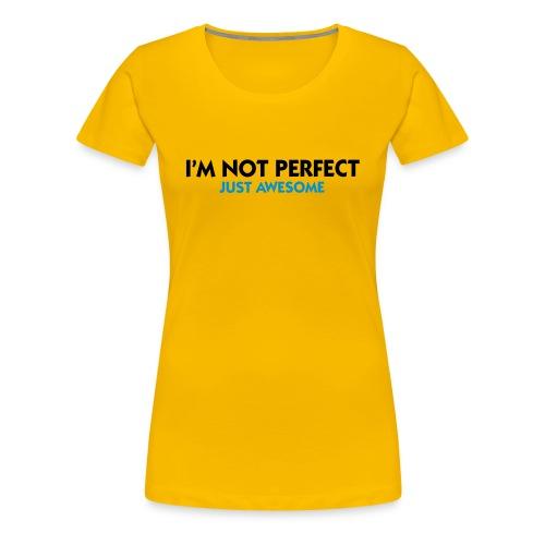 Not Perfect Topp - Premium-T-shirt dam
