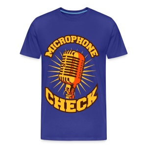Microphone check orange - T-shirt Premium Homme