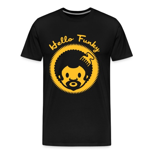 Hello Funky or jaune - T-shirt Premium Homme