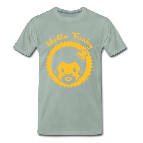 Hello Funky or jaune - T-shirt Premium Homme