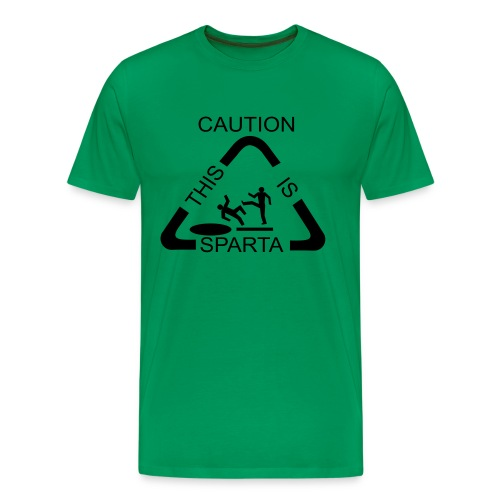 Caution This is Sparta T-Shirt - Men's Premium T-Shirt