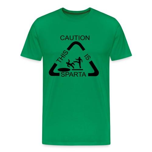 Caution This is Sparta T-Shirt - Men's Premium T-Shirt