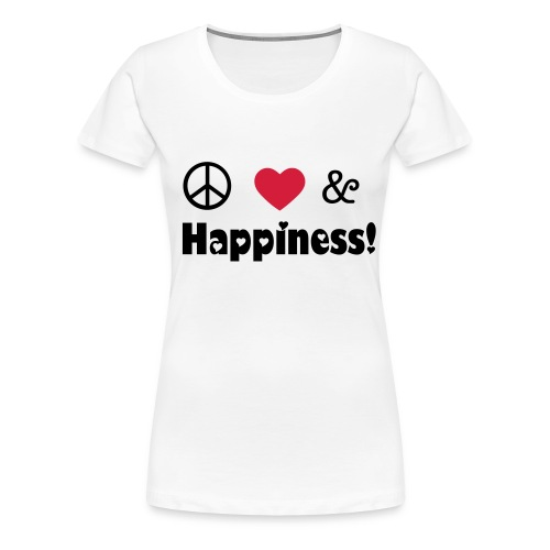 peace,love and happiness - Women's Premium T-Shirt