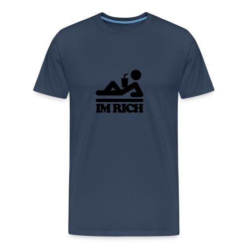 i'm rich - Mannen Premium T-shirt
