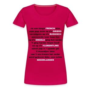 Dames T-shirt Sexgedichtje - Vrouwen Premium T-shirt