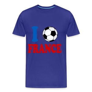 j'aime le foot t-shirt france supporter - Men's Premium T-Shirt