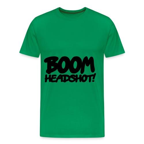BOOM. HEADSHOT. - Men's Premium T-Shirt