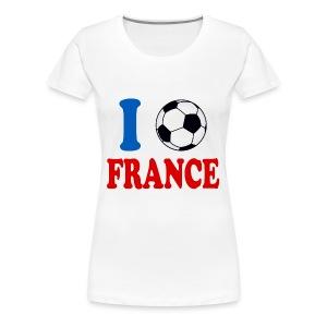 j'aime le foot t-shirt france supporter - Women's Premium T-Shirt