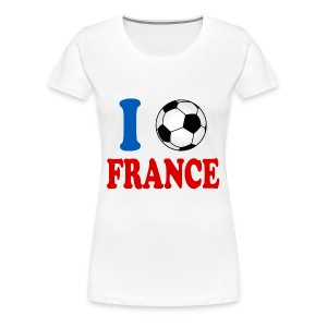 j'aime le foot t-shirt france supporter - Women's Premium T-Shirt