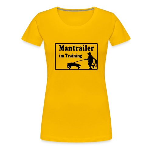 T-Shirt Frau - Mantrailer im Training - Frauen Premium T-Shirt