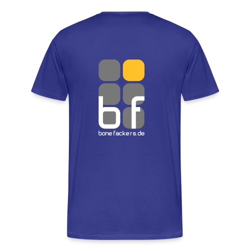 Rückenaufdruck blau - Männer Premium T-Shirt