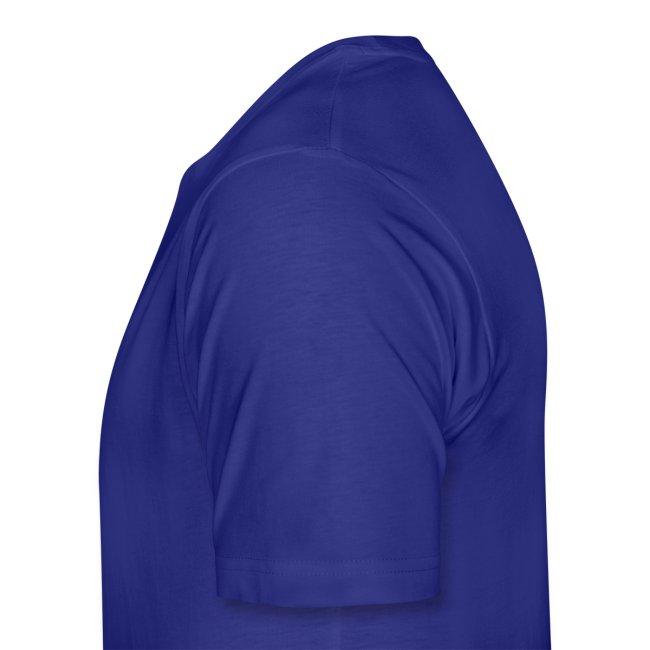 Rückenaufdruck blau