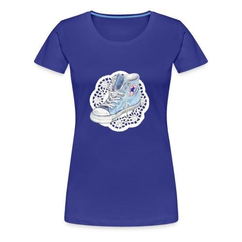 chuck blau - Frauen Premium T-Shirt