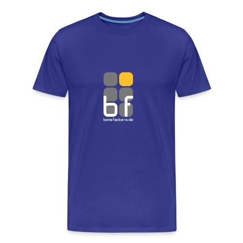 Brustaufdruck blau - Männer Premium T-Shirt