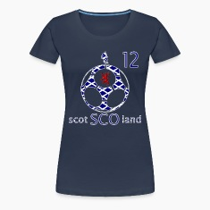 Scotland saltire football 12 womens girlie t-shirt