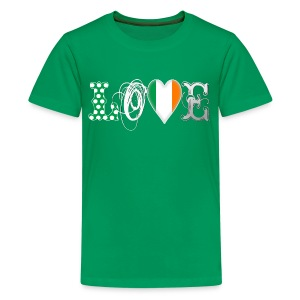Love Eire White Shirts - Teenage Premium T-Shirt