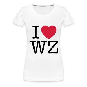 I LOVE WZ Girlieshirt weiß - Frauen Premium T-Shirt