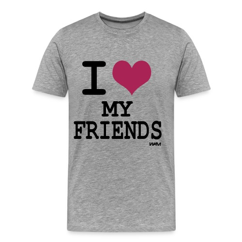 I like my Friends - Men's Premium T-Shirt
