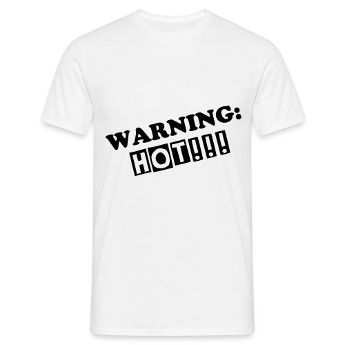 WARNING: HOT!!! (Heren) - Mannen T-shirt