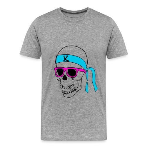 Calabera con gafas retro - Camiseta premium hombre