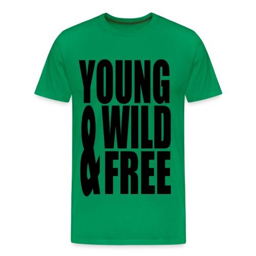 young wild & free - Mannen Premium T-shirt