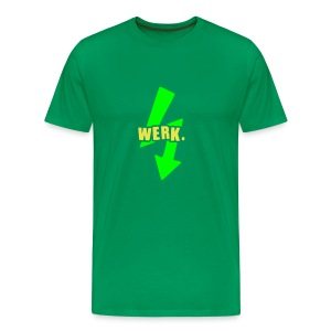 Werk-Neon Green/Yellow - Men's Premium T-Shirt